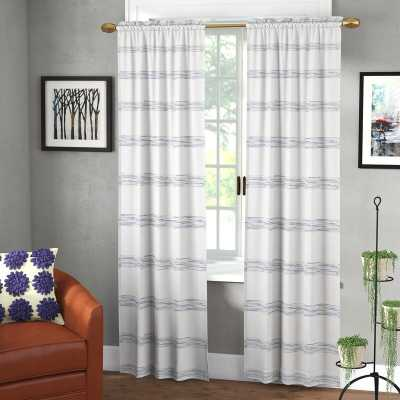 Hawkinsville Window Striped Semi-Sheer Single Curtain Panel - Wayfair