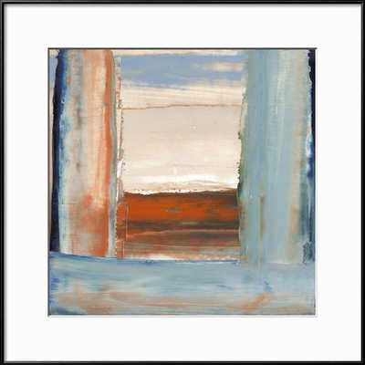 "ORANGE & BLUE I By Sharon Gordon-16"" x 16"" Framed Art Print - art.com"