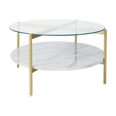 Burroughs Coffee Table with Storage - Wayfair