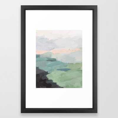 Abstract Nature Landscape - Vector Black - Society6