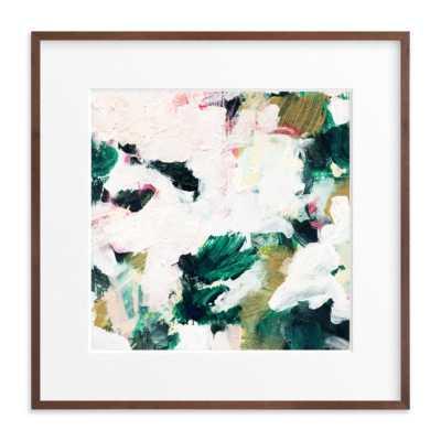 Ivy - 30 x 30 Art Print - Walnut Wood Frame - Matted - Minted