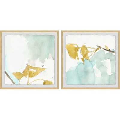 'Pastel Flower' 2 Piece Framed Watercolor Painting Print Set on Paper - Wayfair