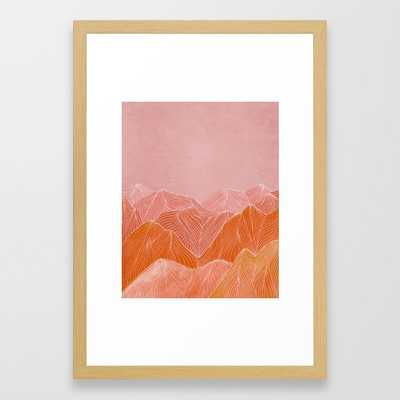 Lines in the Mountain - Vector White - Society6