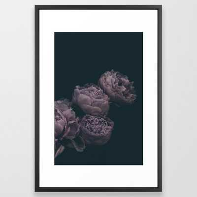 Dramatic Bunch of Peonies | Modern Floral Photography | Nature Framed Art Print - Society6