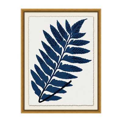 """Indigo Fern Leaf Art / Print V / 26"""" x 20"""" - Ballard Designs"""