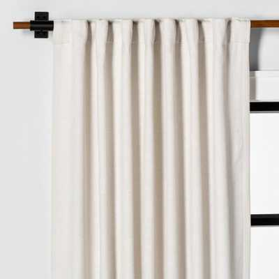 95 Curtain Panel Solid Sour Cream - Hearth & Hand with Magnolia, White - Target