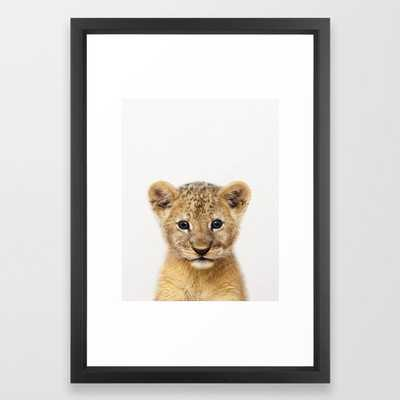 Baby Lion, Baby Animals Art Print By Synplus Framed Art Print - Society6