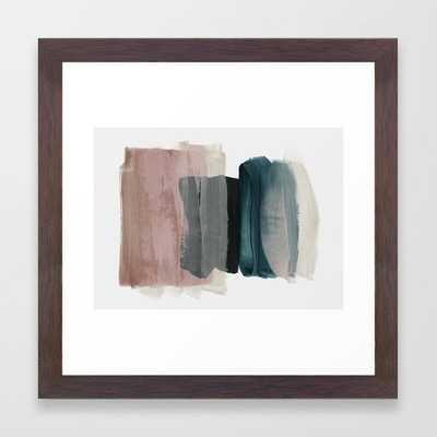 "minimalism 1 Framed Art Print - conservation walnut, 12"" x 12"" - Society6"