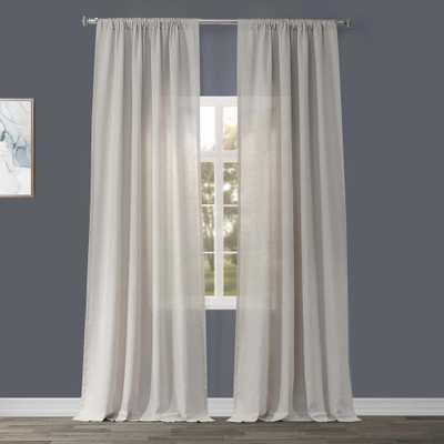 Exclusive Fabrics & Furnishings Birch Tan Linen Sheer Curtain - 50 in. W x 96 in. L - Home Depot