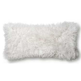 MIYA FAUX-FUR LUMBAR PILLOW, IVORY - Lulu and Georgia
