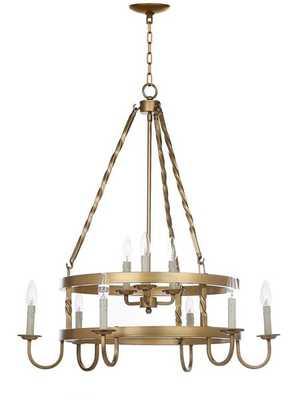 Crowley 31-Inch Dia Adjustable Chandelier - Gold - Arlo Home - Arlo Home