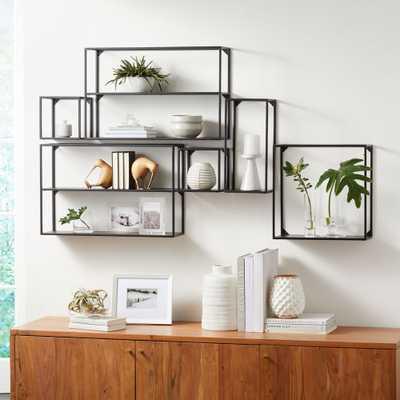 Booker Climbing Wall Display Shelf, Set of 6 - Crate and Barrel