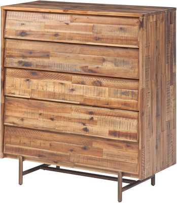 Bronson Wooden 5 Drawer Chest - Maren Home