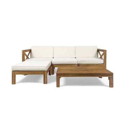 Reina Outdoor 5 Piece Sectional Seating Group with Cushions - Wayfair