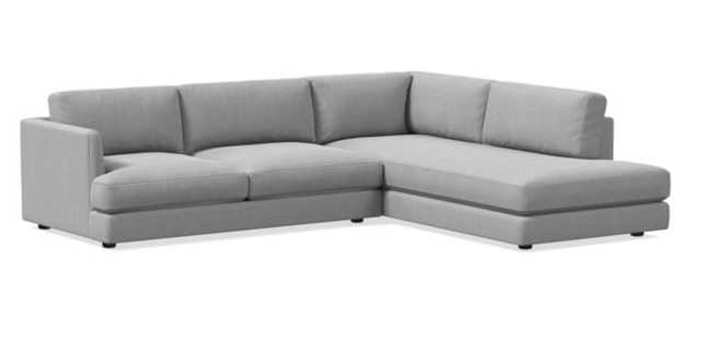 Haven 2-Piece Terminal Chaise Sectional  - Right chaise - Standard depth - West Elm