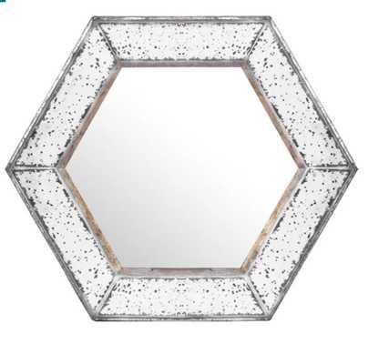 Gia Hexagon Accent Mirror - Wayfair