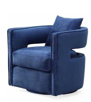 Daniela Navy Swivel Chair - Maren Home
