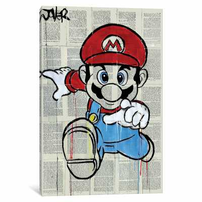 'M' Graphic Art on Wrapped Canvas - Wayfair