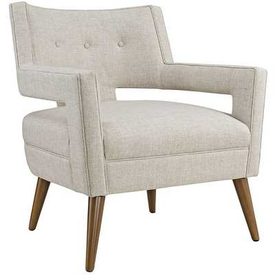 SHEER FABRIC ARMCHAIR IN SAND - Modway Furniture