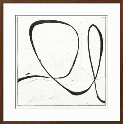 """BIG SWIRL 2- 30"""" x 30"""" - IronWorks Brass Frame, no mat - art.com"""