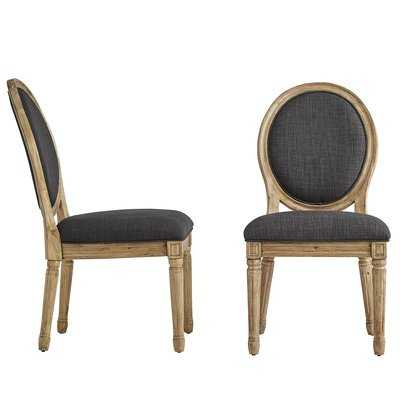 Lachance Round Upholstered Dining Chair (set of 2) - Wayfair