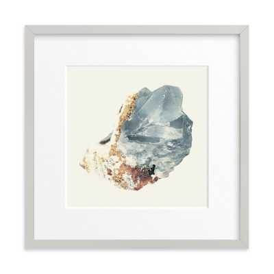 "rock study 2 fluorite - 11""x11"" Light Gray Wood Frame - Minted"