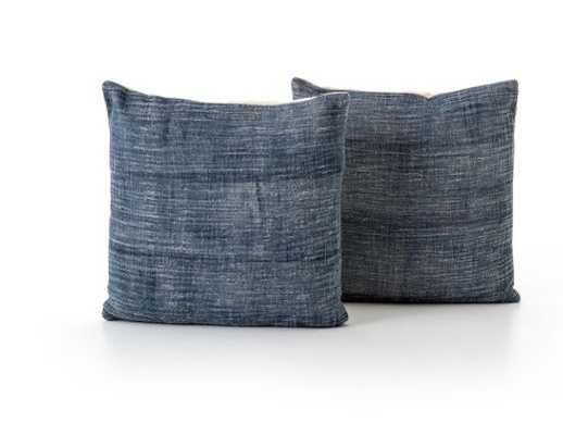 Faded Blue Haze Pillow, Set Of 2 - Burke Decor
