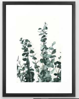 "Eucalyptus Leaves Framed Art Print -  20"" X 26"" - Vector Black Frame - Society6"