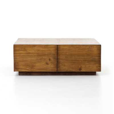 Duncan Storage Coffee Table in Reclaimed Fruitwood - Burke Decor