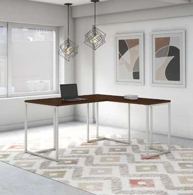 Method 72W L Shaped Desk from Office by kathy ireland® - Walnut Finish - Overstock