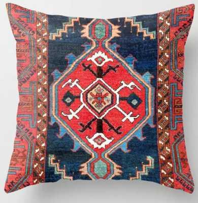 "Bergama Northwest Anatolian Rug Print Throw Pillow, 20"" X 20"" with insert - Society6"
