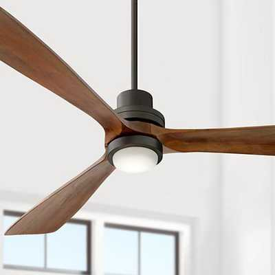 "66"" Casa Delta-Wing XL™ Bronze LED Ceiling Fan - Lamps Plus"