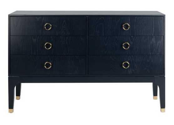 Lorna 6 Drawer Contemporary Dresser / Navy - Arlo Home