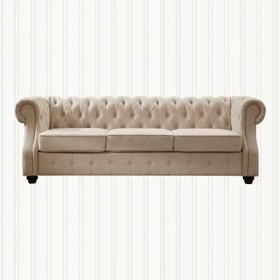Stowmarket Tufted Chesterfield Sofa / Beige - Wayfair