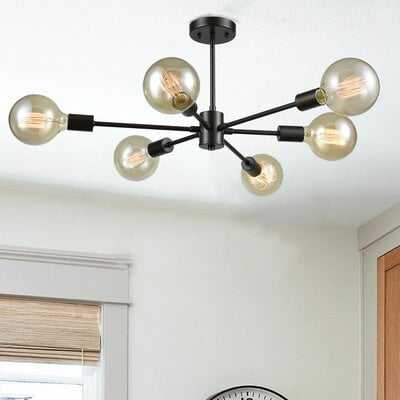 Ricketts 6-Light Semi Flush Mount - Wayfair