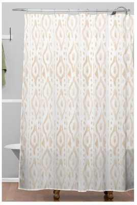 DESERT LINEN Shower Curtain - Wander Print Co.