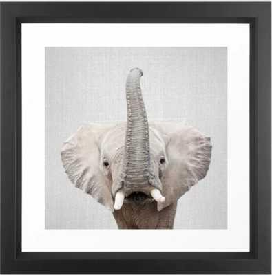 Elephant 2 - Colorful Framed Art Print 12 x 12 - Society6