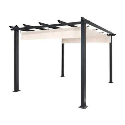 9' W x 9' D Aluminum Pergola with Canopy - Wayfair