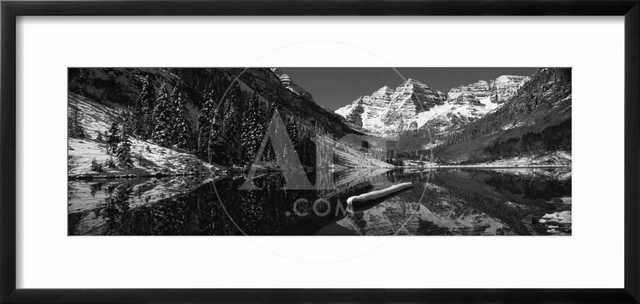 Reflection of a Mountain in a Lake, Maroon Bells, Aspen, Pitkin County, Colorado, USA - art.com