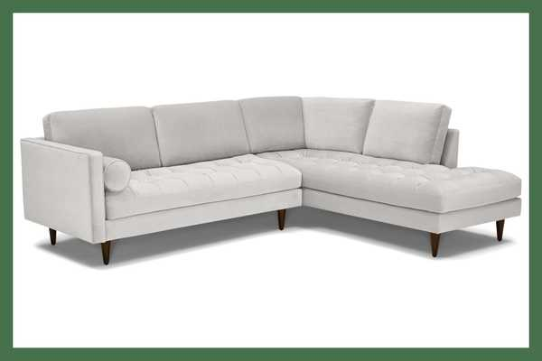 Briar Sectional with Bumper (2 piece) Right arm facing - Joybird