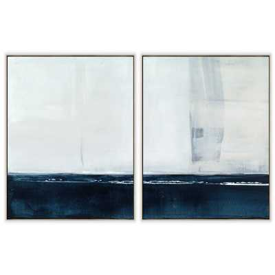 'WASHED INK DIPTYCH' 2 PIECE FRAMED PRINT SET ON CANVAS - Perigold