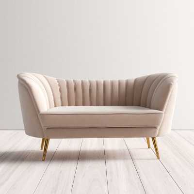 "Lilo Velvet 65"" Round Arm Loveseat - Wayfair"