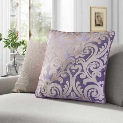 Liana Cut Square Velvet Throw Pillow - Wayfair