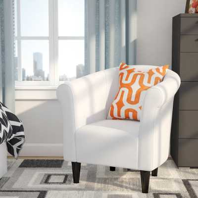 Liam Barrel Chair- White - Wayfair