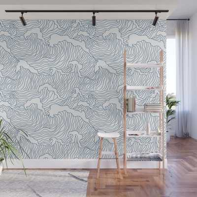 Japanese Wave Wall Mural - Society6