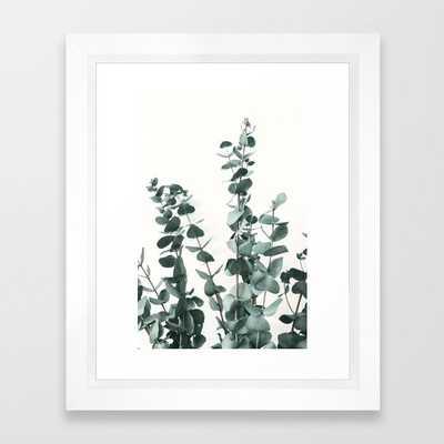 Eucalyptus Leaves Framed Art Pring - Society6