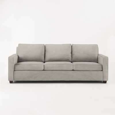"Henry 96"" Sofa, Performance Velvet, Dove Gray - West Elm"