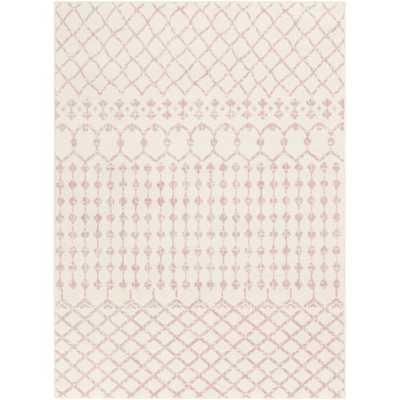 Windley Distressed Pale Pink/Cream Area Rug - Wayfair