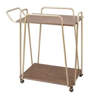 Silverwood Emory 2 - Tier Hairp Bar Cart Gold - Target