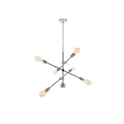 Mullet 6-Light Sputnik Chandelier - Polished Nickel - Wayfair